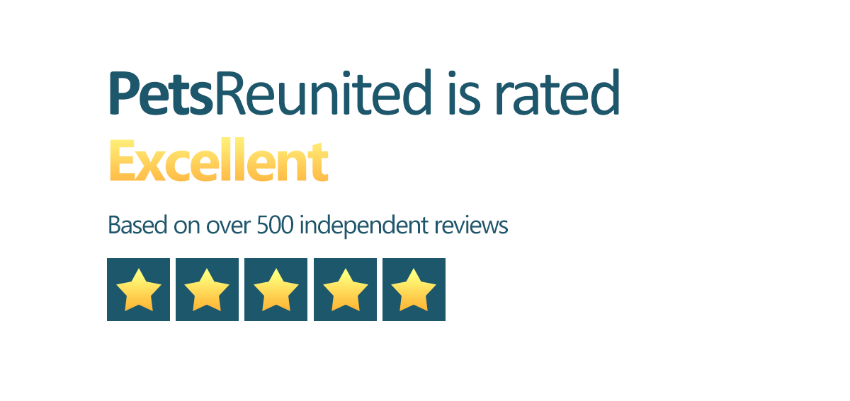 Pets Reunited is rated Excellent